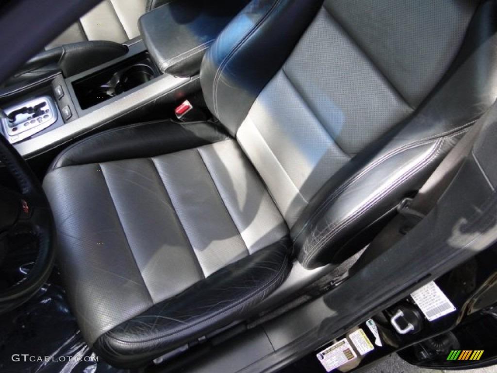 Ebony/Silver Interior 2007 Acura TL 3.5 Type S Photo #78531147