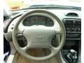 1997 Ford Mustang Medium Graphite Interior Steering Wheel Photo