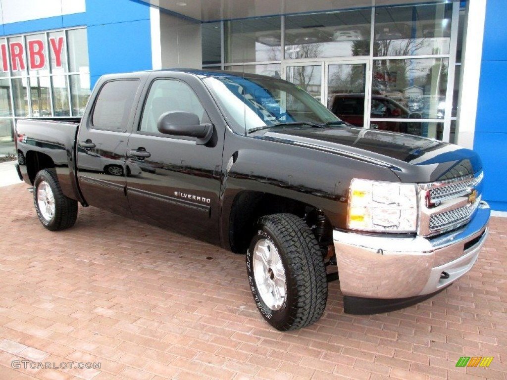 2013 Silverado 1500 LT Crew Cab 4x4 - Black / Ebony photo #12