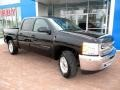 2013 Black Chevrolet Silverado 1500 LT Crew Cab 4x4  photo #12