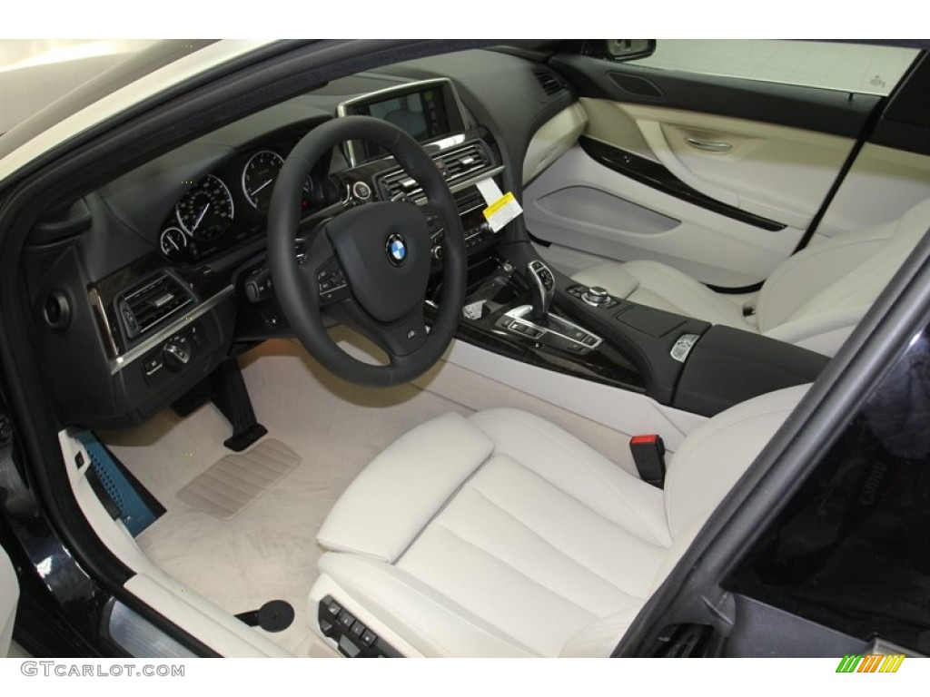 Ivory White Interior 2013 Bmw 6 Series 640i Gran Coupe