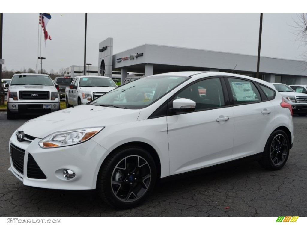 oxford white 2013 ford focus se hatchback exterior photo 78583625. Black Bedroom Furniture Sets. Home Design Ideas