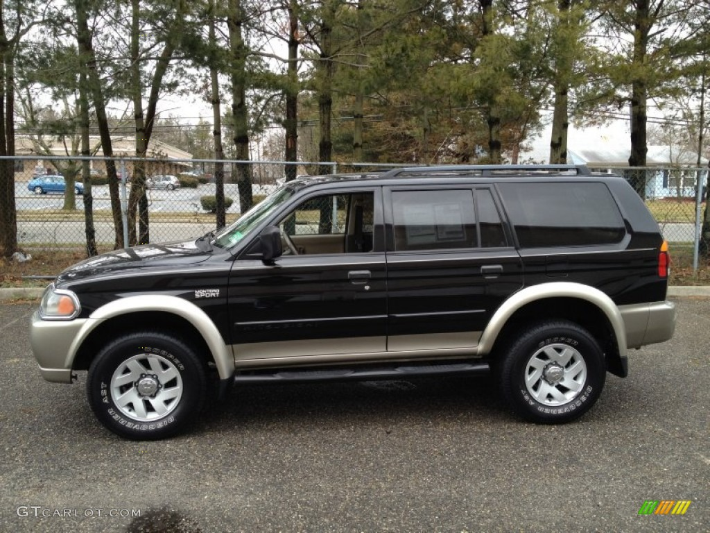 2002 montero sport xls 4x4 solano black pearl tan photo 4