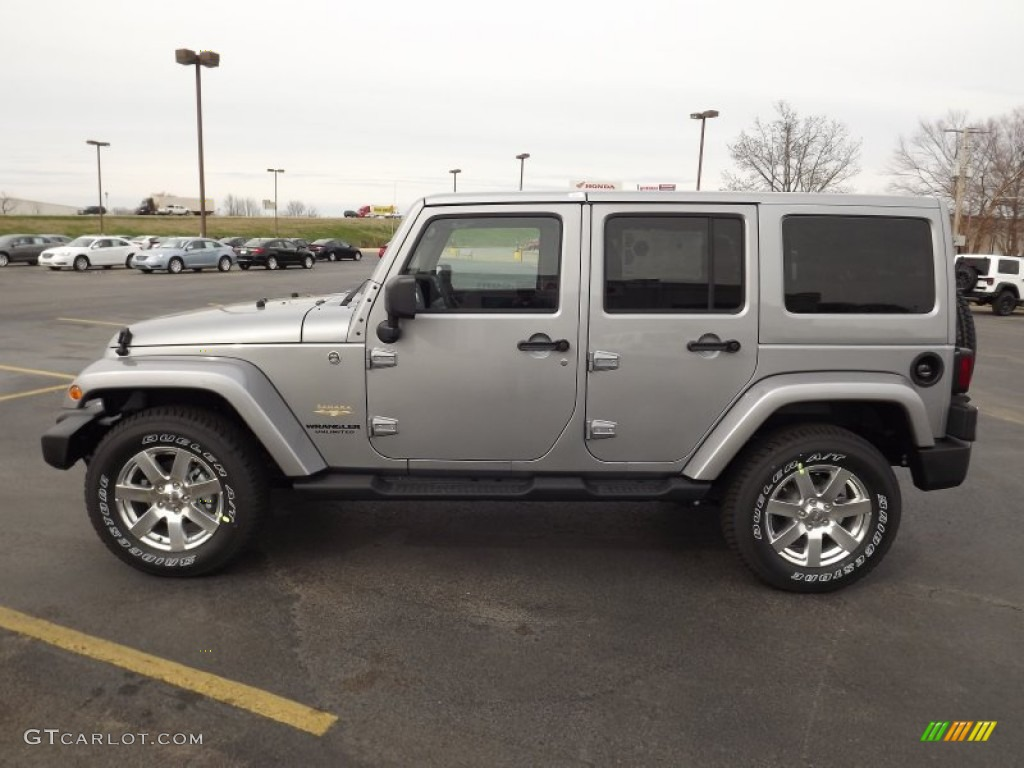 2013 wrangler unlimited sahara 4x4 billet silver metallic black photo 8