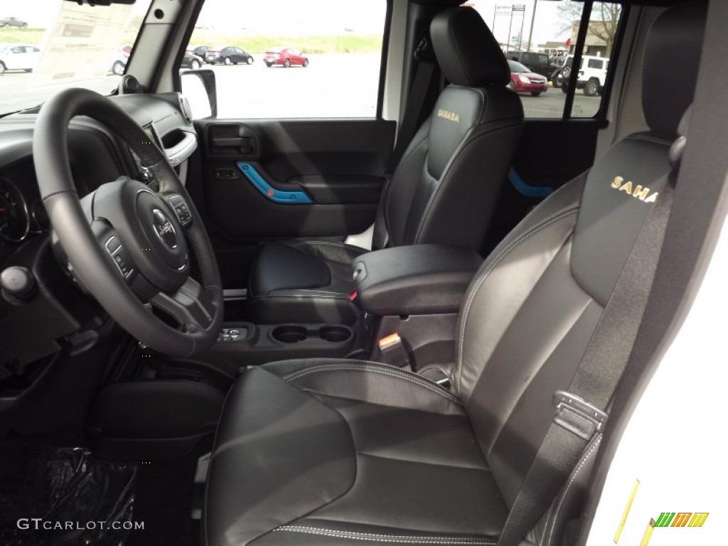 Black Interior 2013 Jeep Wrangler Unlimited Sahara 4x4