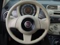 Tessuto Grigio/Avorio (Grey/Ivory) 2012 Fiat 500 Pop Steering Wheel