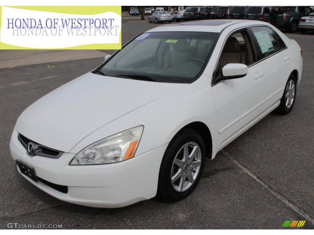 2003 White Honda Accord >> 2003 Taffeta White Honda Accord EX V6 Sedan #78584613 | GTCarLot.com - Car Color Galleries