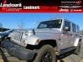 Bright Silver Metallic 2012 Jeep Wrangler Unlimited Sahara Arctic Edition 4x4