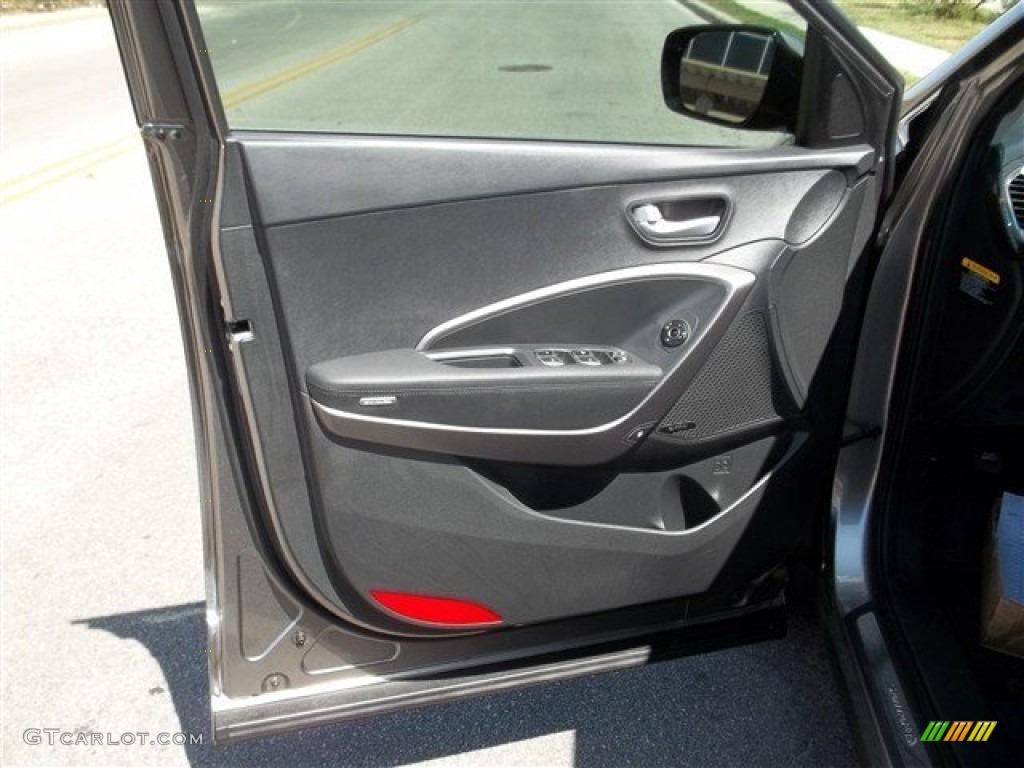 2013 Hyundai Santa Fe Sport 2 0t Black Door Panel Photo