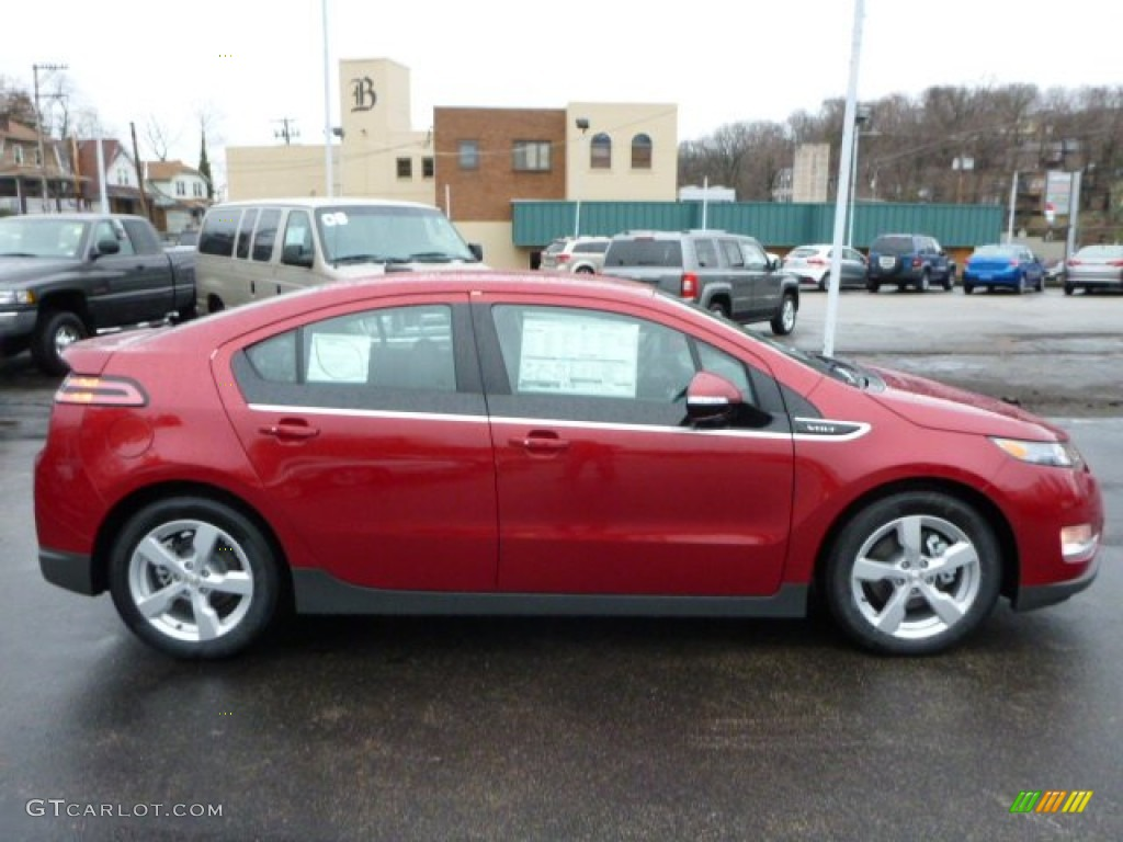 Crystal Red Tintcoat 2013 Chevrolet Volt Standard Volt Model Exterior Photo #78614895