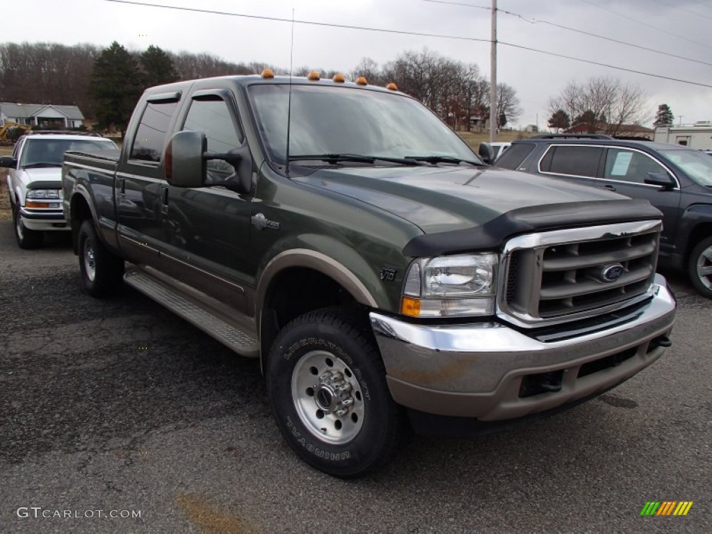 2003 estate green metallic ford f250 super duty king ranch crew cab 4x4 78640278. Black Bedroom Furniture Sets. Home Design Ideas