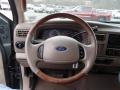 2003 Ford F250 Super Duty Castano Brown Interior Steering Wheel Photo