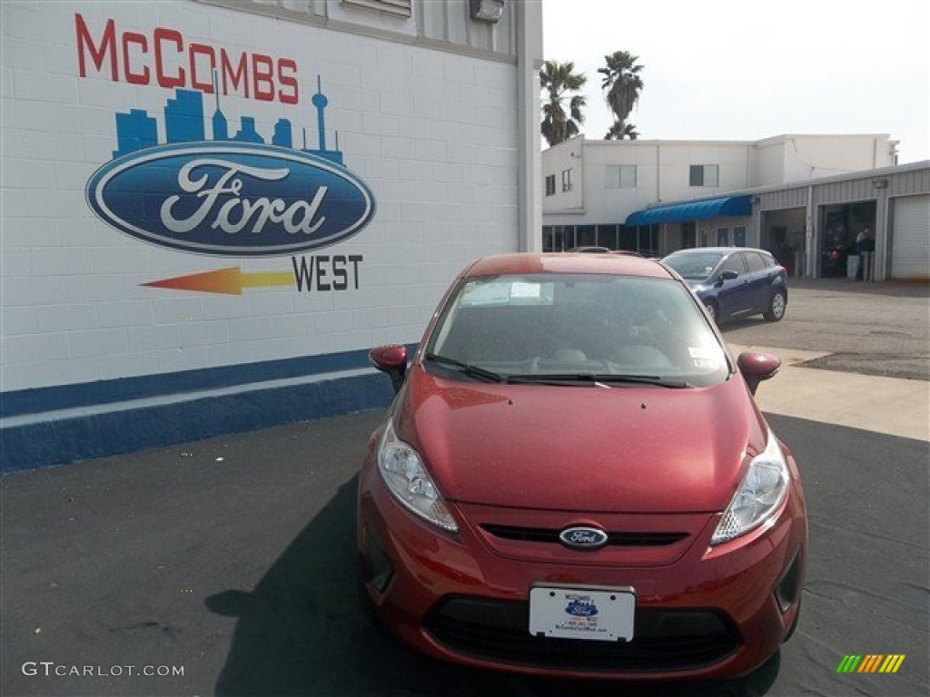 2013 Fiesta SE Hatchback - Ruby Red / Charcoal Black/Light Stone photo #1