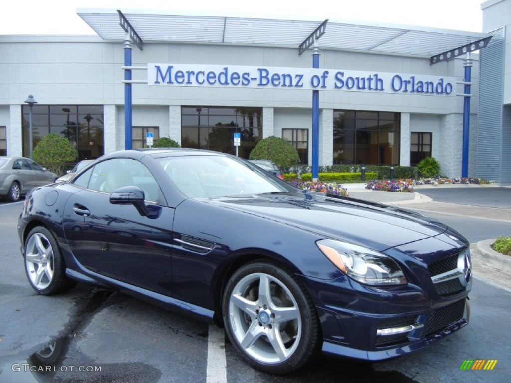 2012 lunar blue metallic mercedes benz slk 250 roadster for Mercedes benz lunar blue