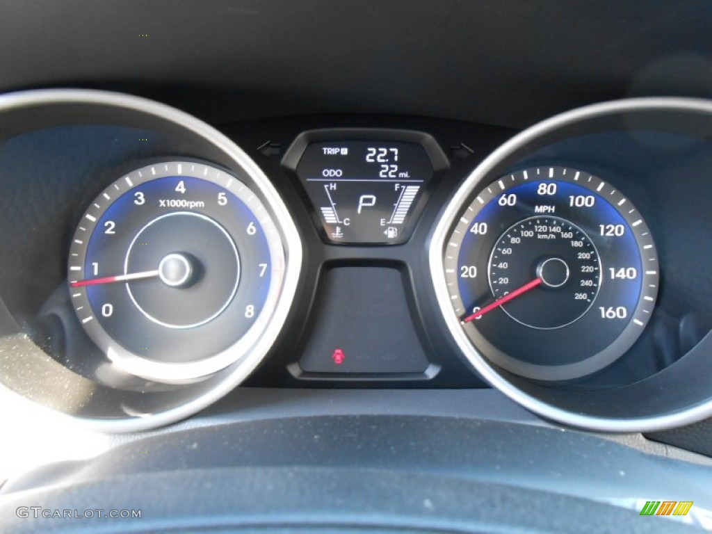 2013 Hyundai Elantra Coupe Se Gauges Photo 78666484