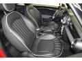 Lounge Carbon Black Leather Front Seat Photo for 2009 Mini Cooper #78671553