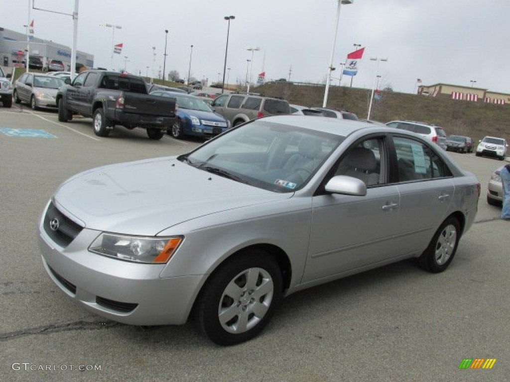Bright Silver 2007 Hyundai Sonata Gls Exterior Photo