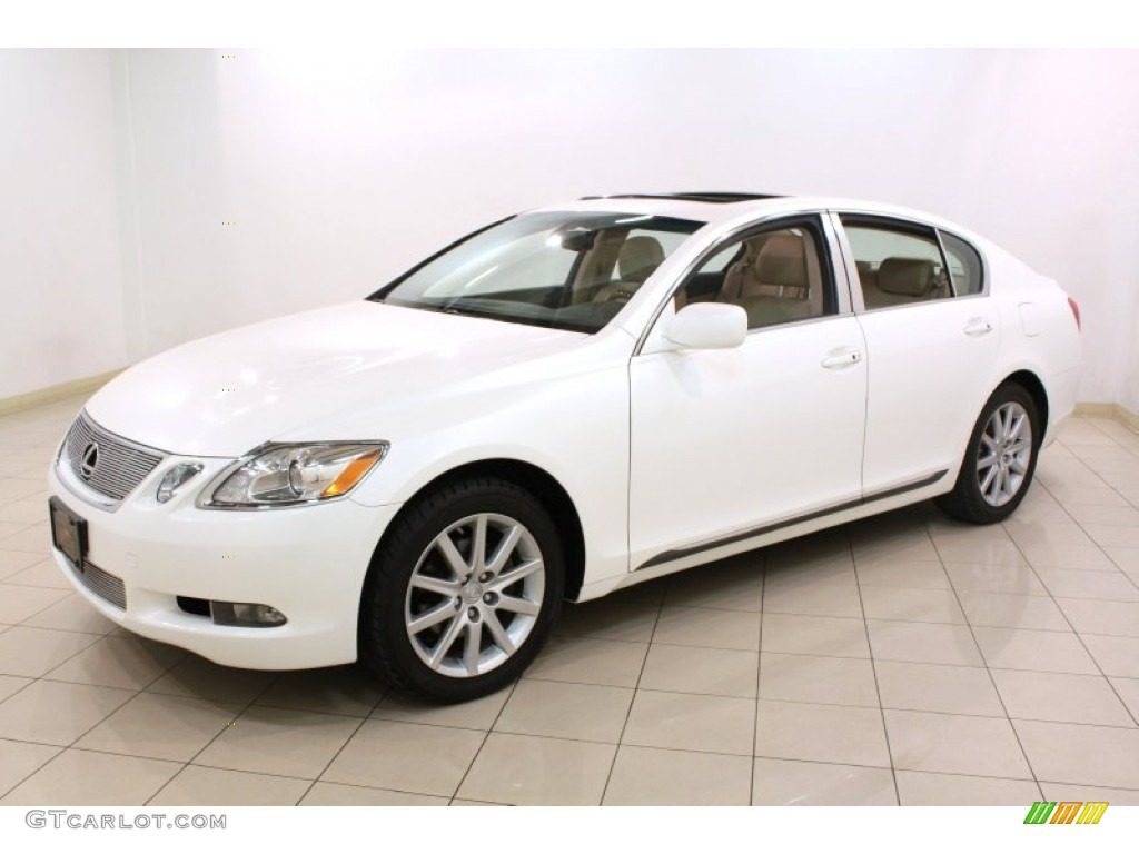 crystal white 2006 lexus gs 300 awd exterior photo. Black Bedroom Furniture Sets. Home Design Ideas