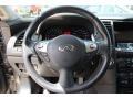 2009 Infiniti FX Graphite Interior Steering Wheel Photo