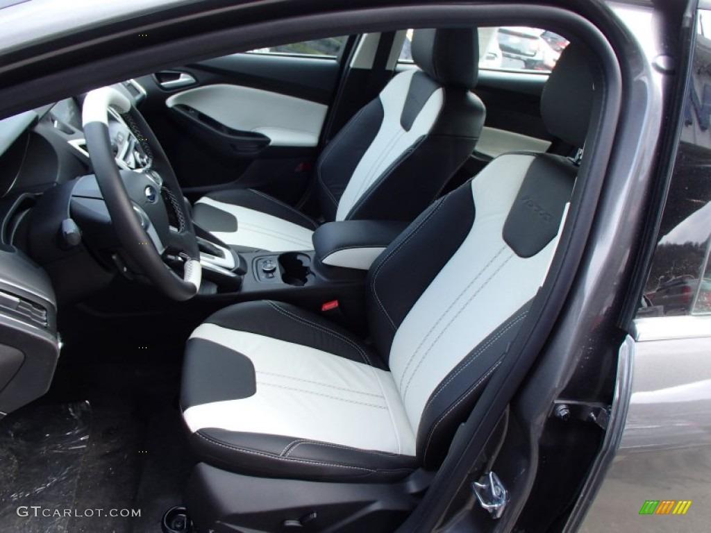 arctic white interior 2013 ford focus titanium sedan photo 78704993