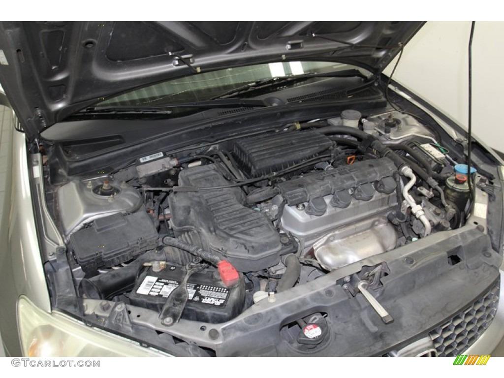 2004 Honda Civic EX Coupe 1.7L SOHC 16V VTEC 4 Cylinder ...