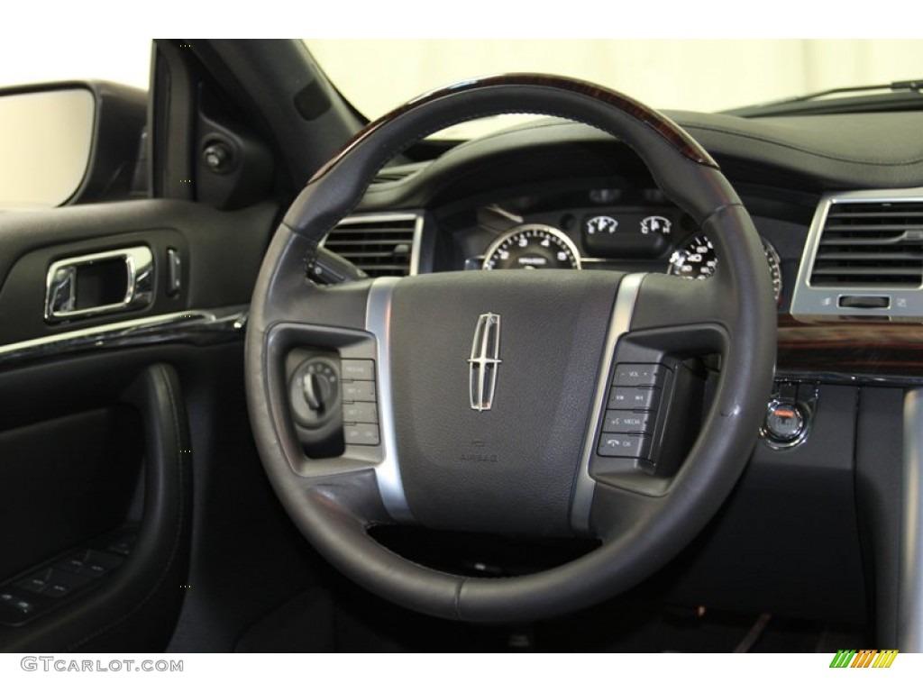 2009 Lincoln Mks Sedan Charcoal Black Steering Wheel Photo 78720740 Gtcarlot Com