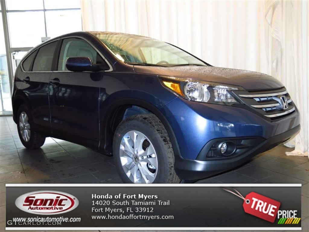2013 CR-V EX - Twilight Blue Metallic / Gray photo #1