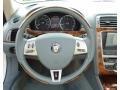 2007 Jaguar XK Caramel Interior Steering Wheel Photo