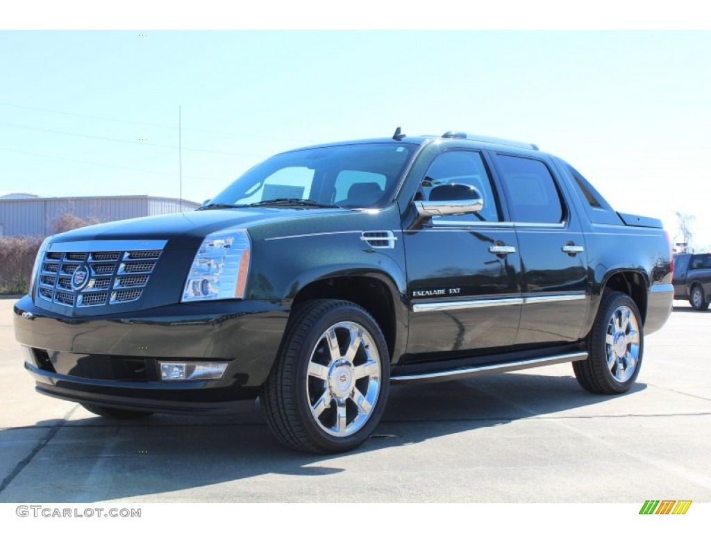 2013 midnight green metallic cadillac escalade ext luxury awd 78698578 photo 2. Black Bedroom Furniture Sets. Home Design Ideas