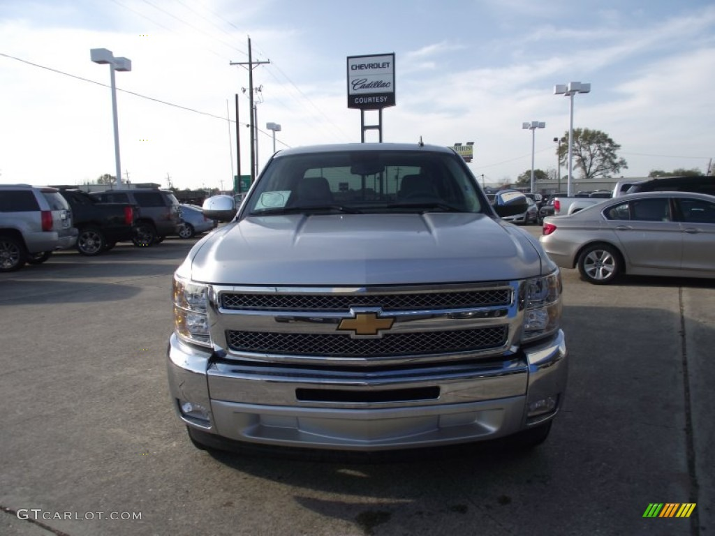 2013 Silverado 1500 LT Crew Cab - Silver Ice Metallic / Ebony photo #1