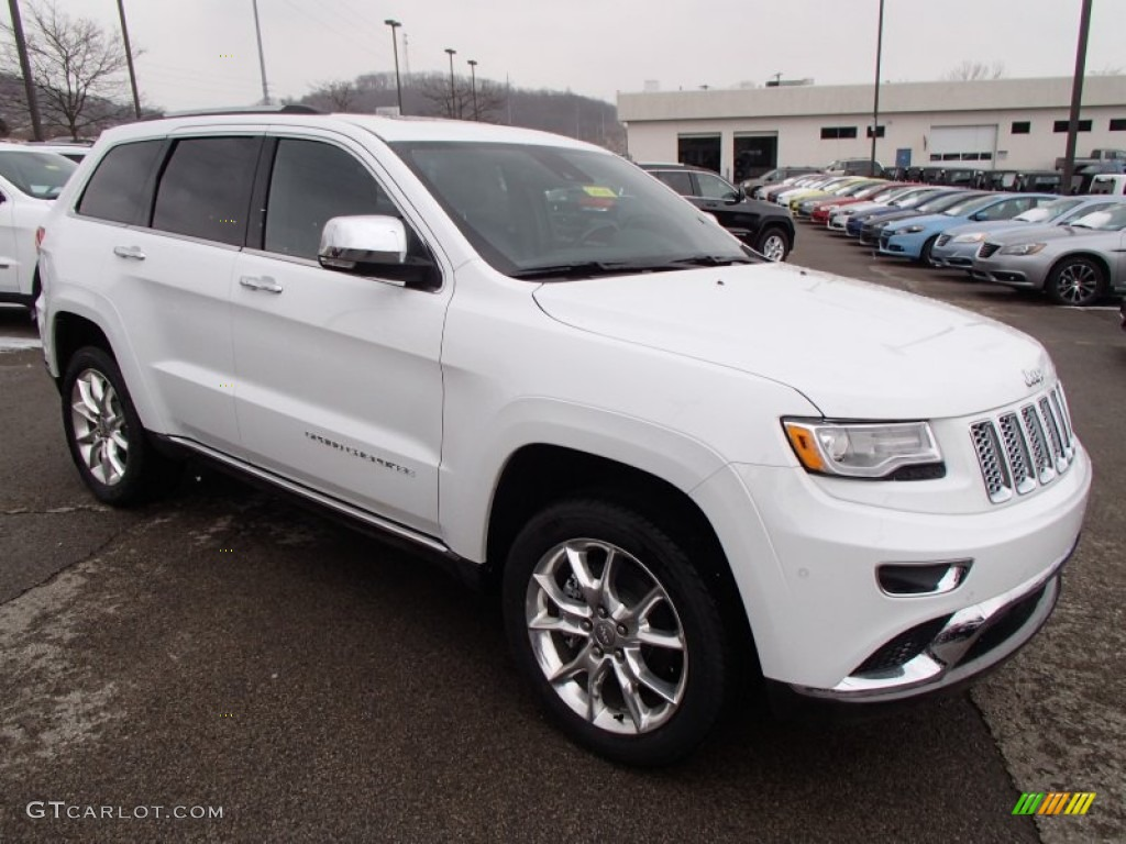 bright white 2014 jeep grand cherokee summit 4x4 exterior photo 78770060. Black Bedroom Furniture Sets. Home Design Ideas