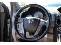 2010 Honda Pilot Gray Interior Steering Wheel Photo