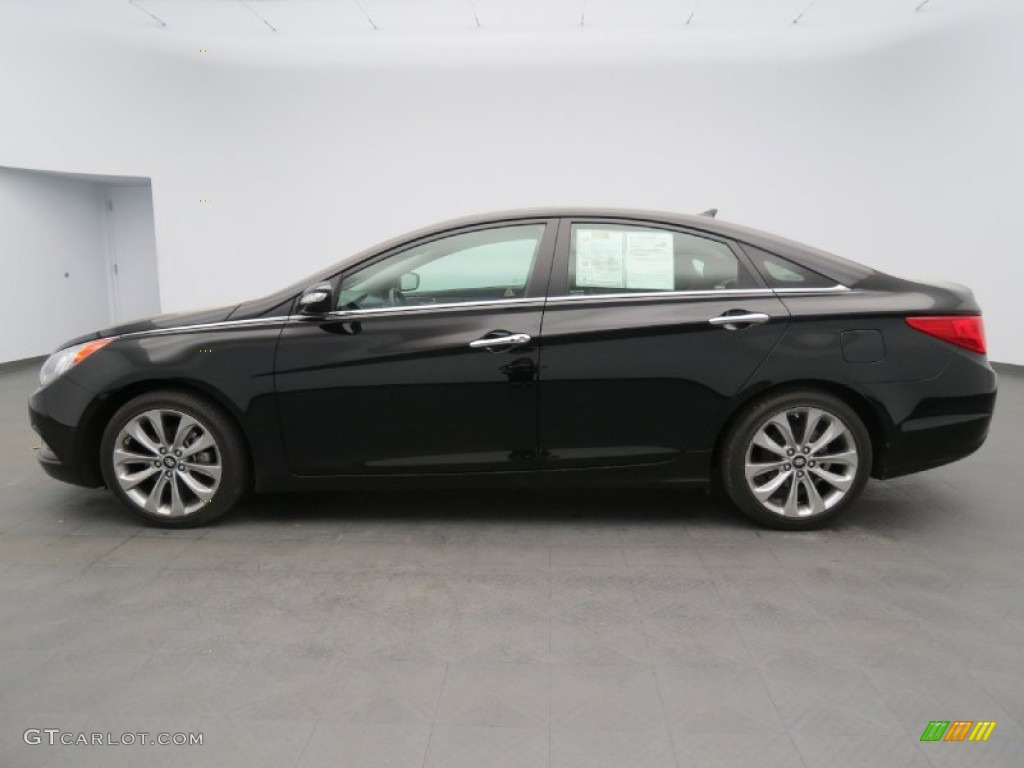 midnight black 2011 hyundai sonata limited 2 0t exterior photo 78775934. Black Bedroom Furniture Sets. Home Design Ideas