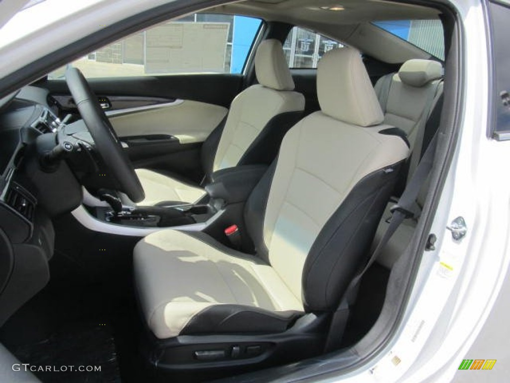 Black Ivory Interior 2013 Honda Accord Ex L Coupe Photo