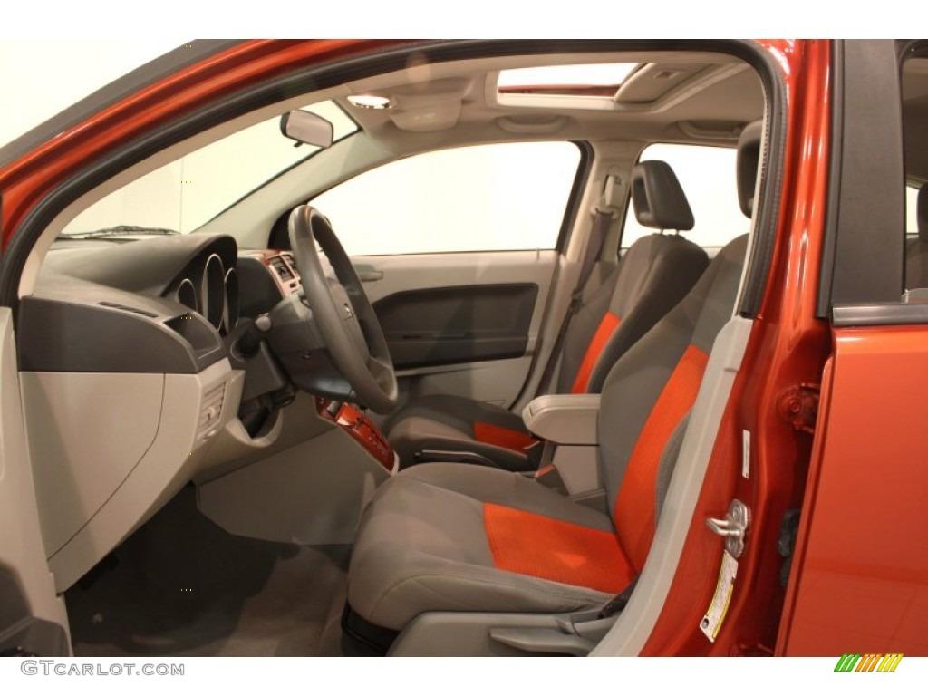 Pastel Slate Gray Orange Interior 2007 Dodge Caliber Sxt Photo 78798182