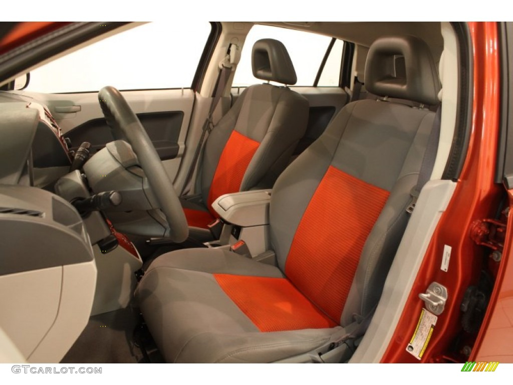 pastel slate gray orange interior 2007 dodge caliber sxt photo 78798203. Black Bedroom Furniture Sets. Home Design Ideas