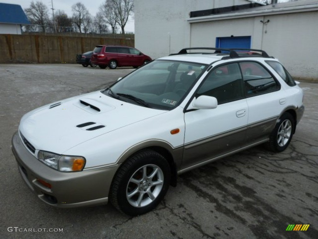 2000 aspen white subaru impreza outback sport wagon. Black Bedroom Furniture Sets. Home Design Ideas