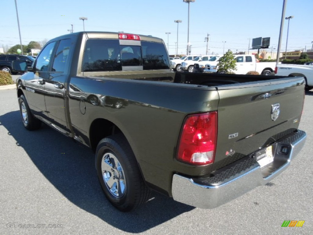 2012 Ram 1500 SLT Quad Cab - Sagebrush Pearl / Dark Slate Gray/Medium Graystone photo #4