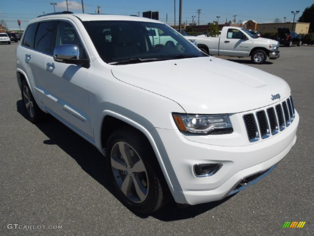 bright white 2014 jeep grand cherokee overland 4x4 exterior photo 78817913. Black Bedroom Furniture Sets. Home Design Ideas