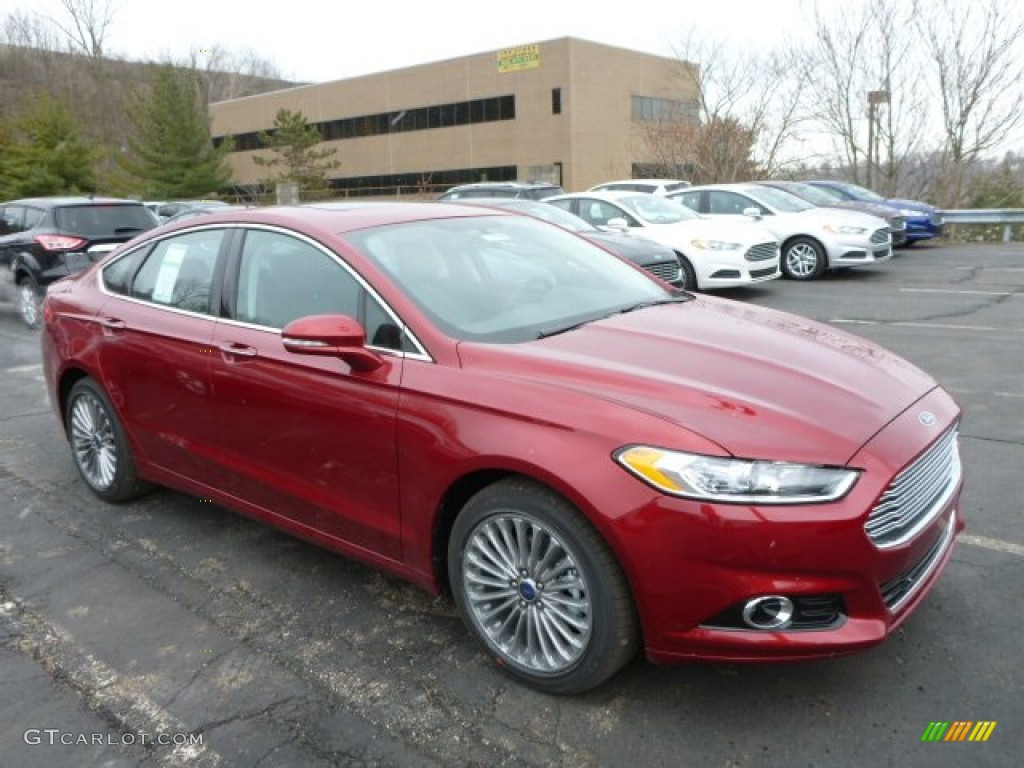 Ruby Red Metallic 2013 Ford Fusion Titanium Awd Exterior Photo 78822617