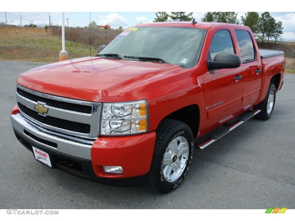2009 Silverado 1500 LT Crew Cab 4x4 - Victory Red / Light Cashmere photo #1