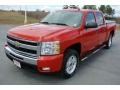 2009 Victory Red Chevrolet Silverado 1500 LT Crew Cab 4x4  photo #1