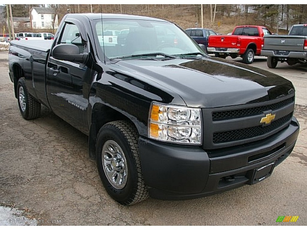Black 2011 Chevrolet Silverado 1500 Regular Cab 4x4 Exterior Photo #78878785
