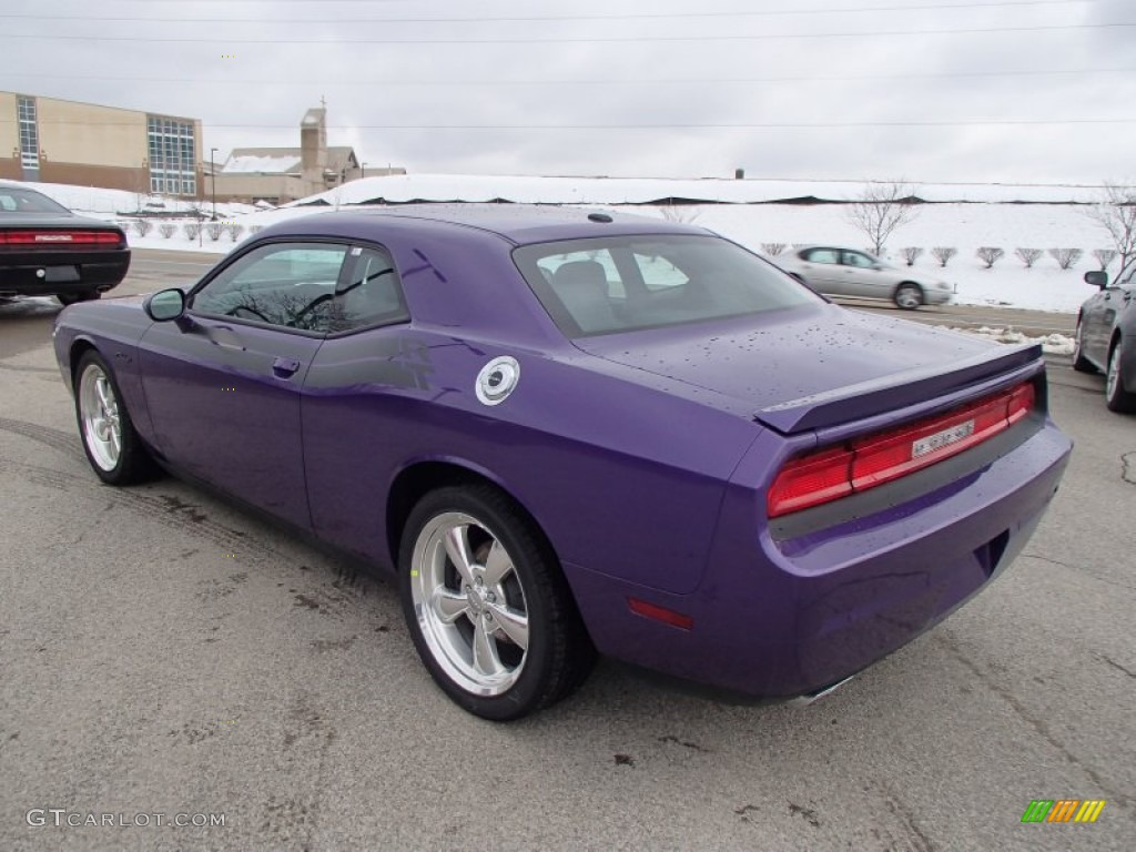 2013 challenger r t classic plum crazy pearl dark slate gray photo