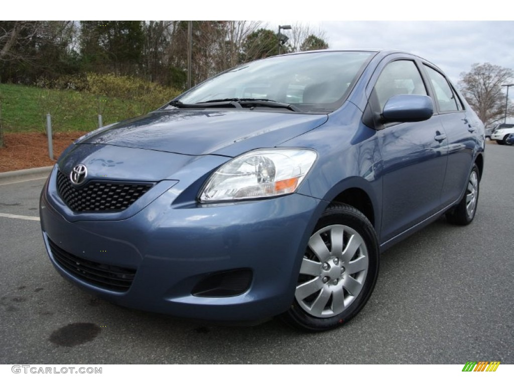 Pacific Blue Metallic 2012 Toyota Yaris Sedan Exterior Photo 78890203