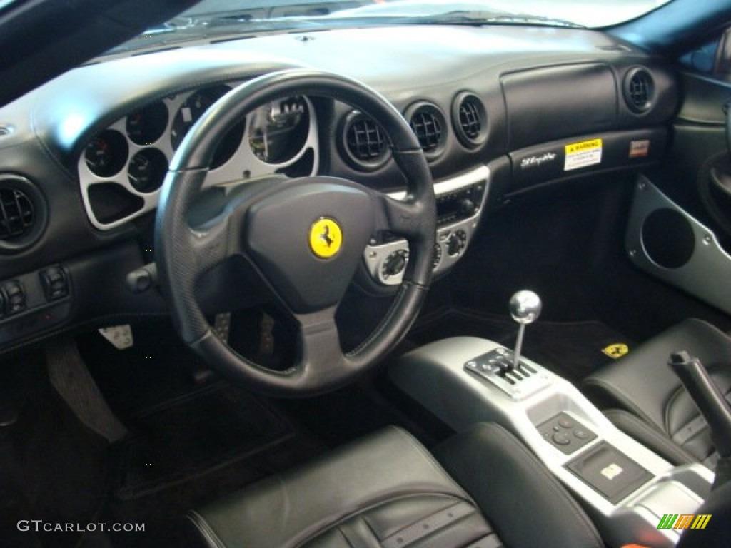 Black Interior 2004 Ferrari 360 Spider Photo 78896714