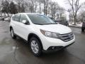 2013 White Diamond Pearl Honda CR-V EX AWD  photo #1