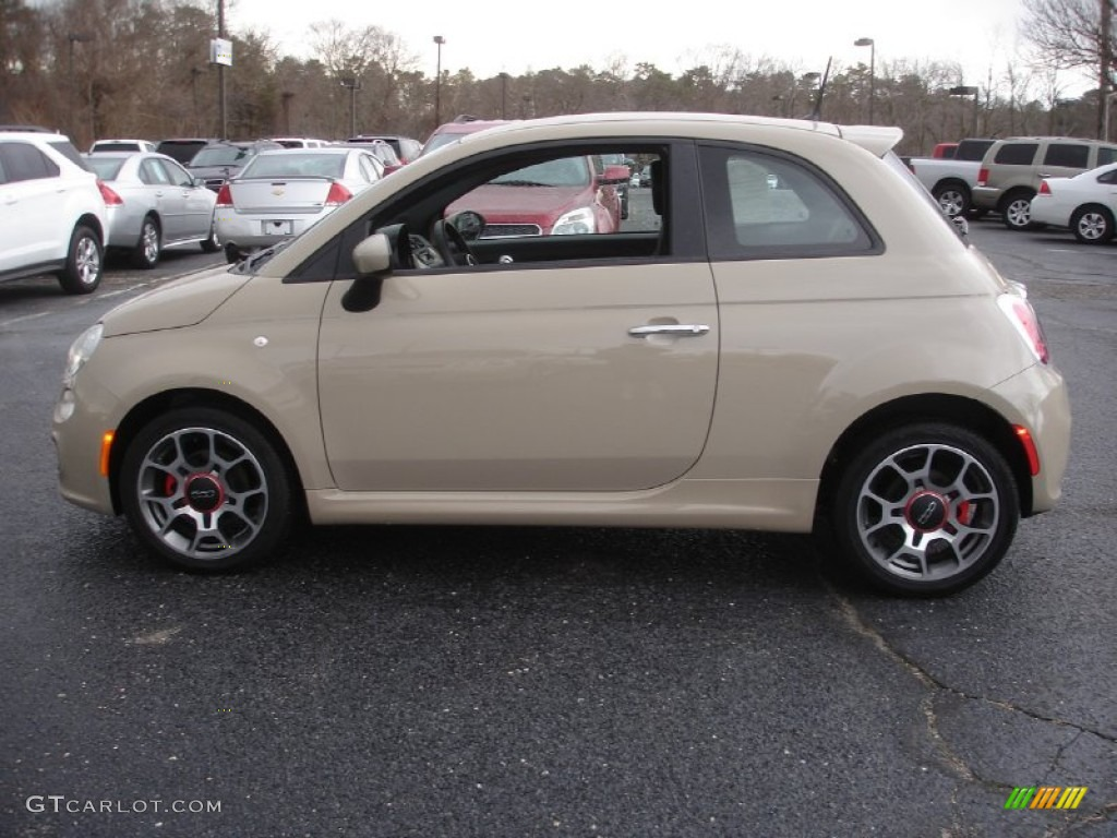Mocha Latte Light Brown 2012 Fiat 500 Sport Exterior
