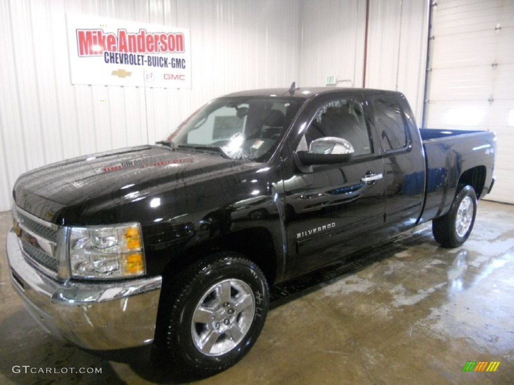 2013 Silverado 1500 LT Extended Cab 4x4 - Black / Ebony photo #1