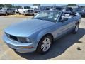 2007 Windveil Blue Metallic Ford Mustang V6 Deluxe Convertible  photo #18
